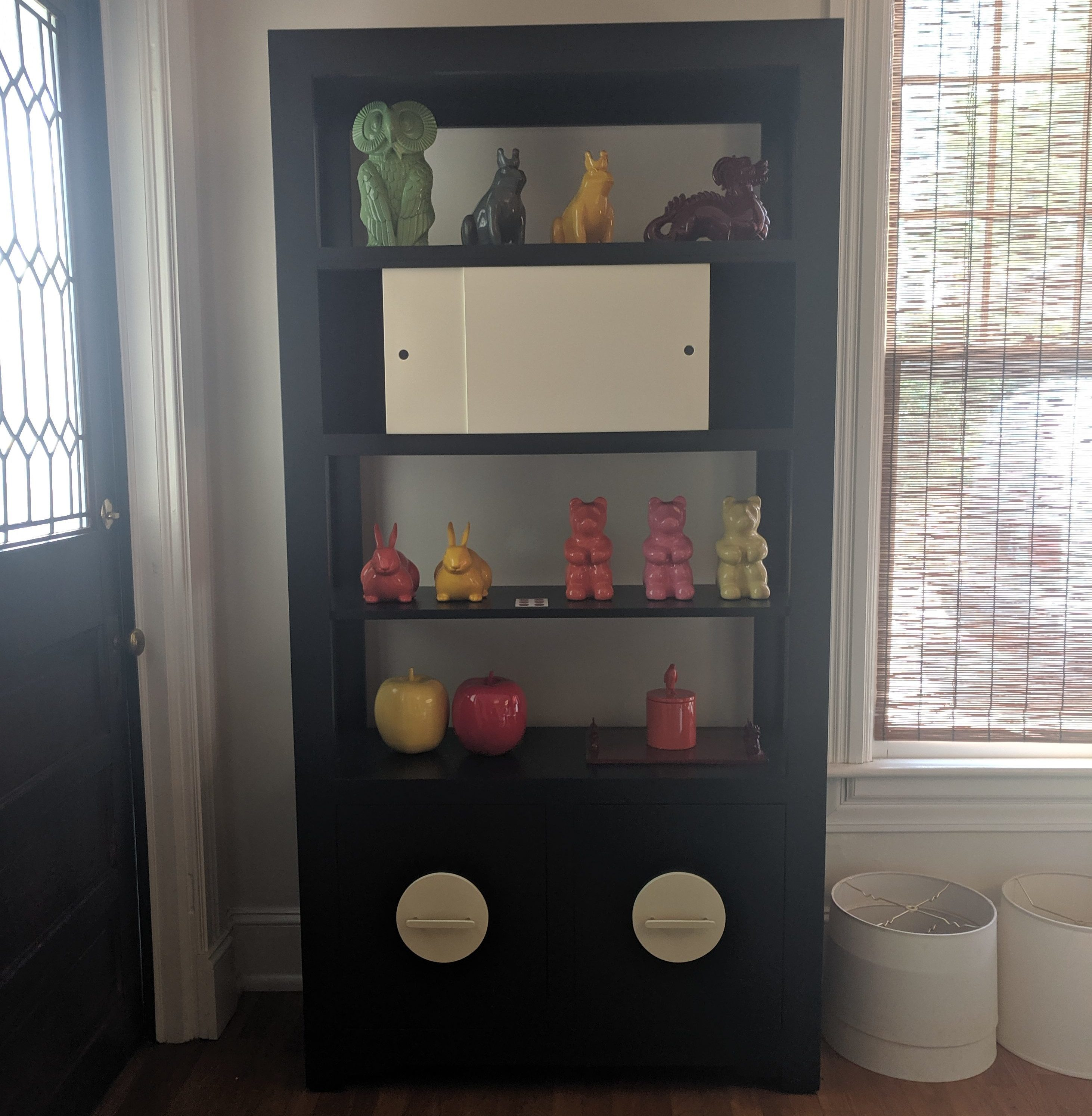 Etagere with Double File and Sliding doors