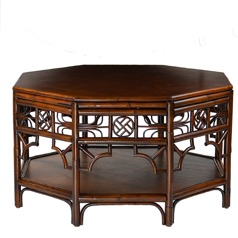 Indochine Octagonal Cocktail Table Small Red Egg Furniture